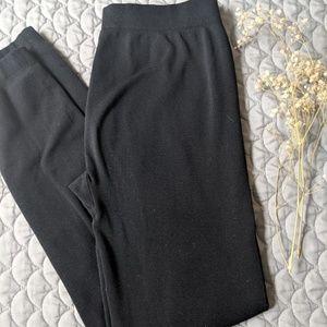 Black Fleece-lined Leggings